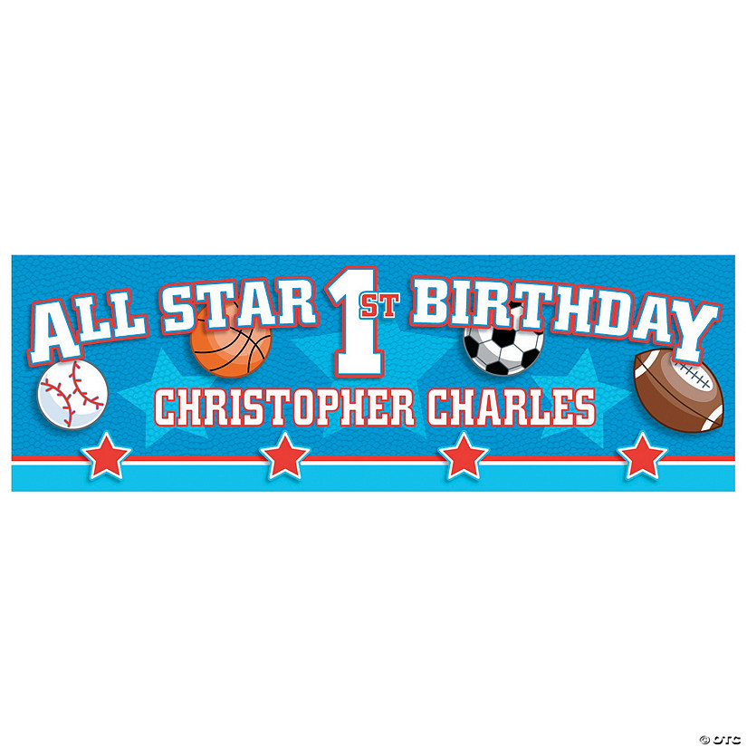 Personalized All Star 1st Birthday Banners Audio Thumbnail