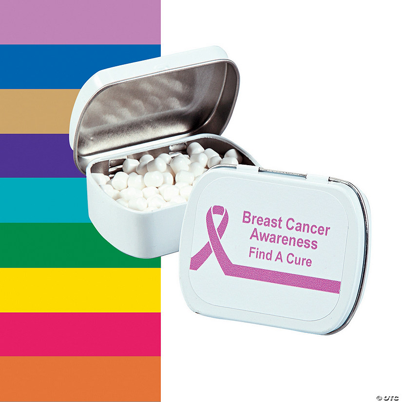 Personalized Awareness Ribbon Mint Tins