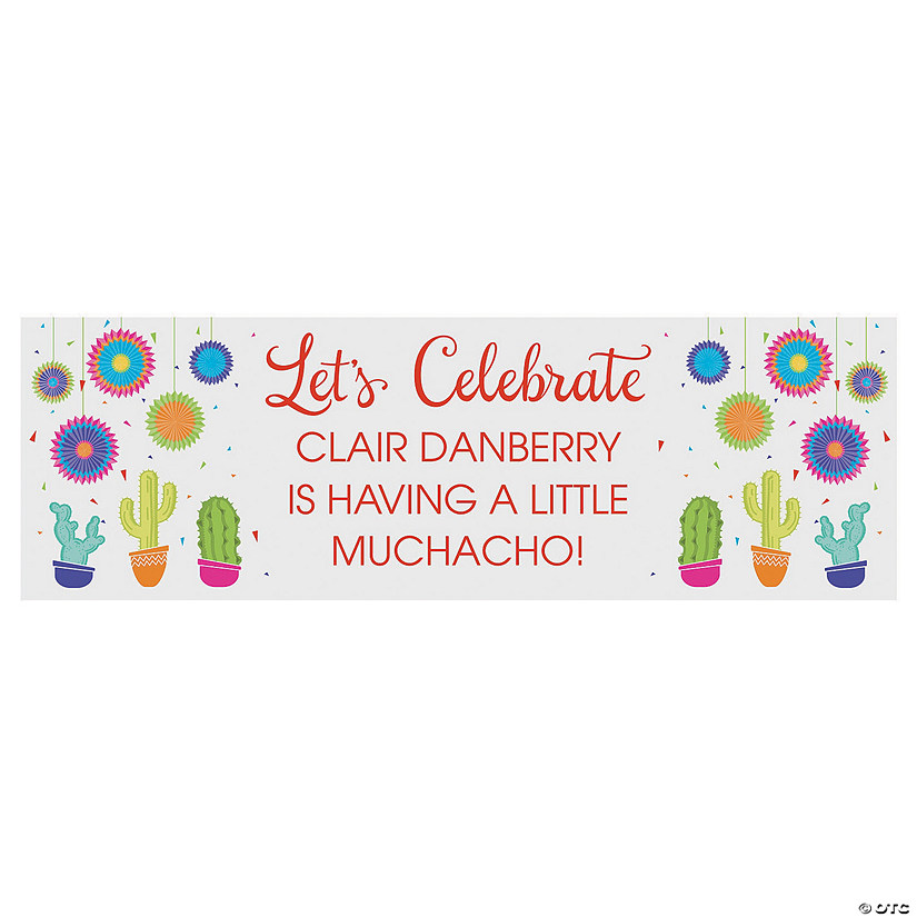 Personalized Fiesta Baby Shower Banner Oriental Trading