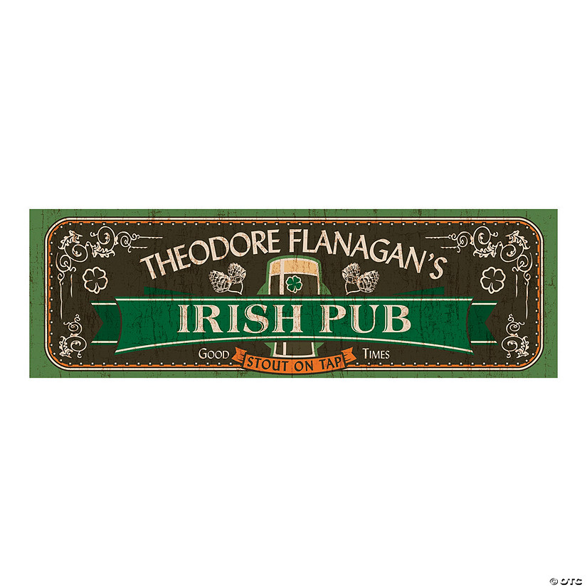 Personalized Irish Pub Banner
