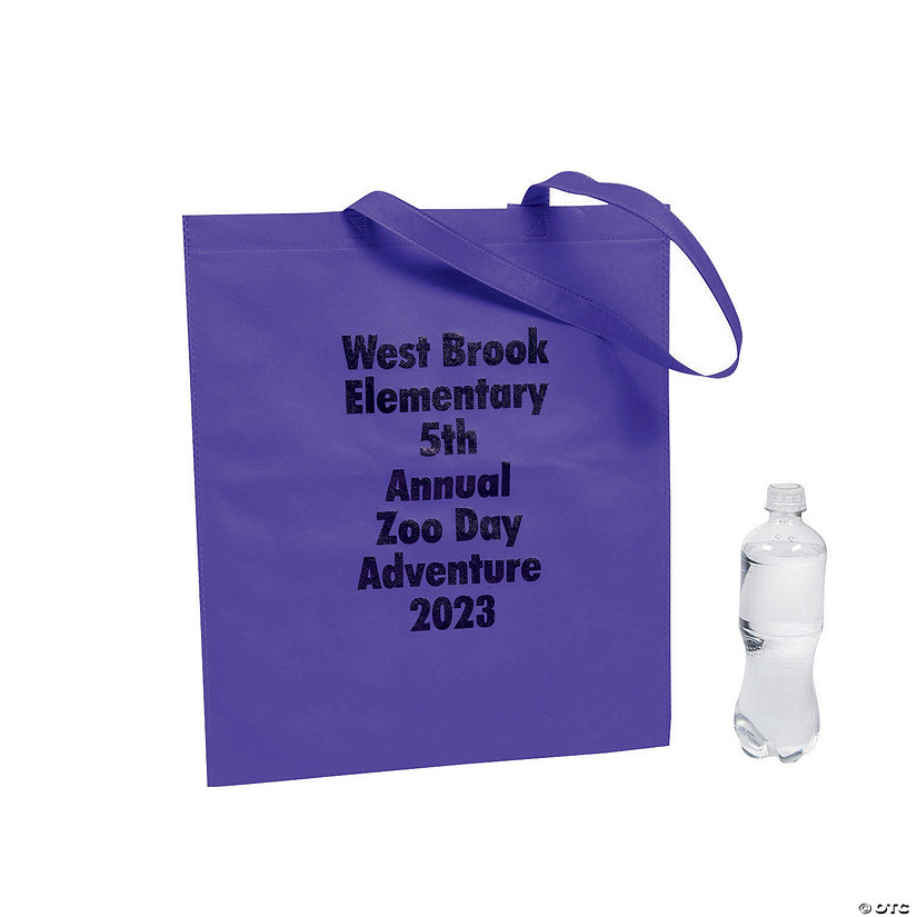 Personalized Large Tote Bags with Text Color Choice Audio Thumbnail