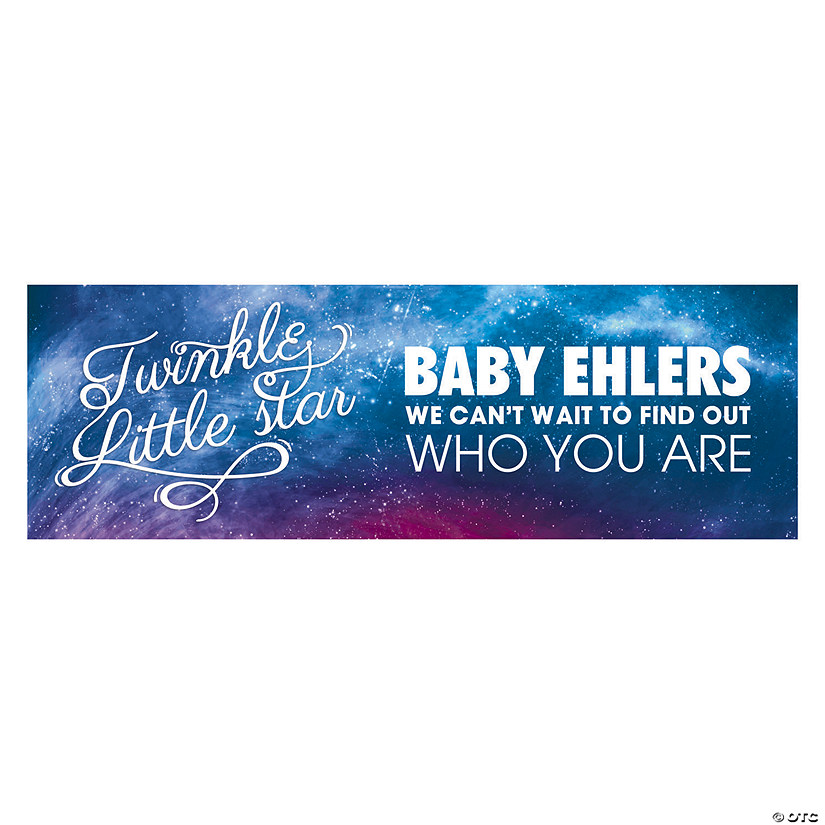 Personalized Little Star Gender Reveal Banner