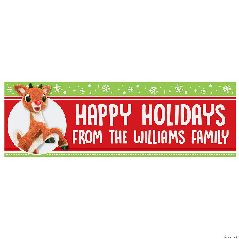 Personalized Rudolph the Red-Nosed Reindeer<sup>®</sup> Vinyl Banners