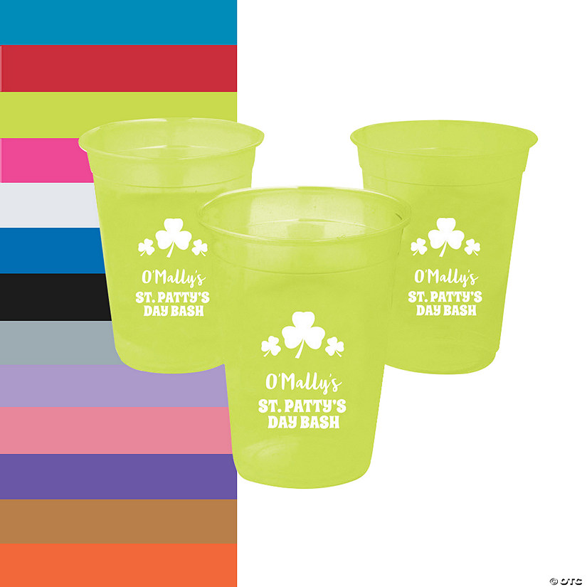 Personalized St. Patrick's Day Plastic Cups - 40 Ct. Image Thumbnail