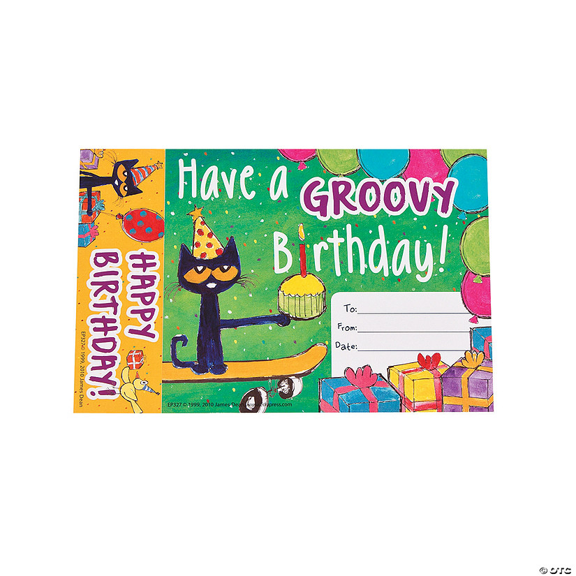 Pete the Cat™ Groovy Birthday Bookmark Awards Audio Thumbnail