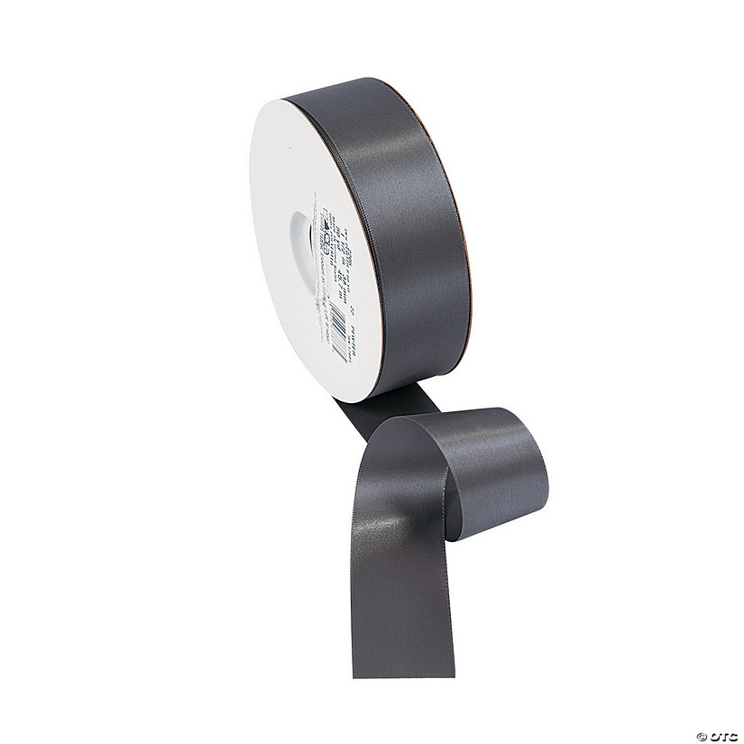 "Pewter Double Faced Satin Ribbon - 1 1/2"" Audio Thumbnail"