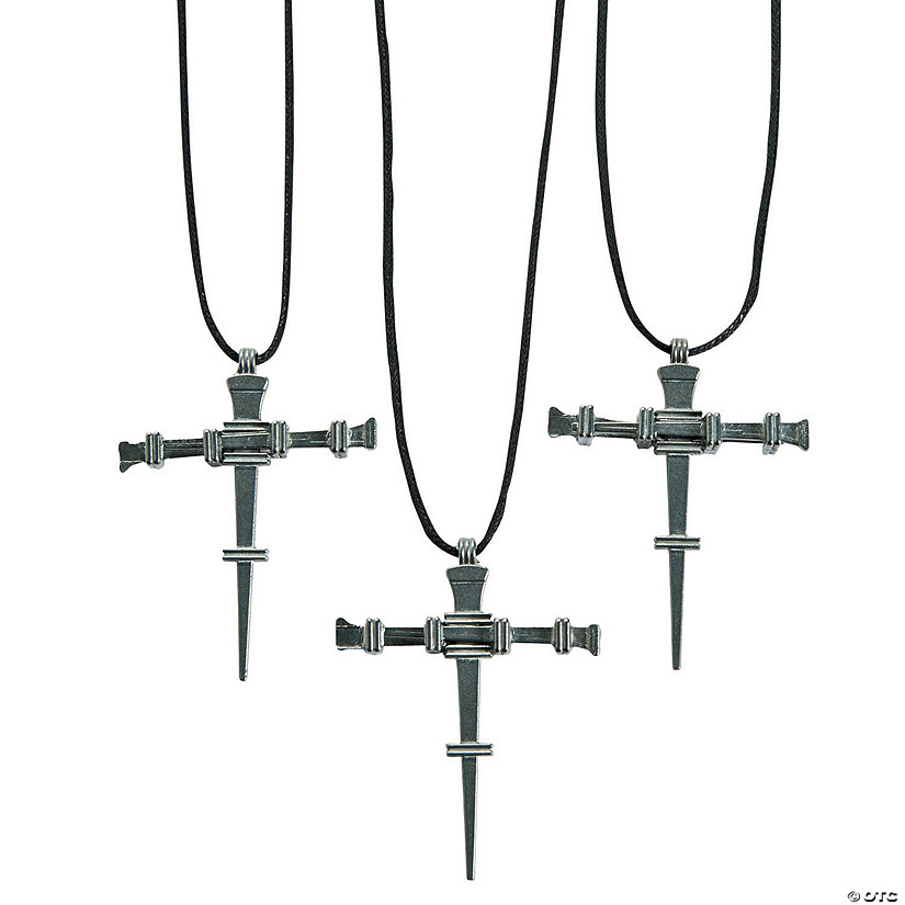 Pewtertone Nail Cross Necklaces Audio Thumbnail
