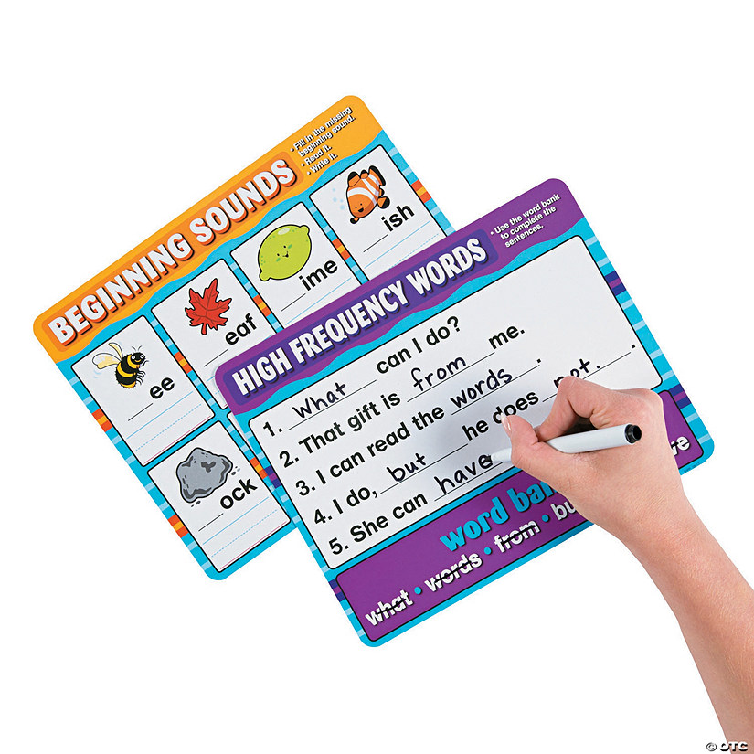 Phonics Dry Erase Set