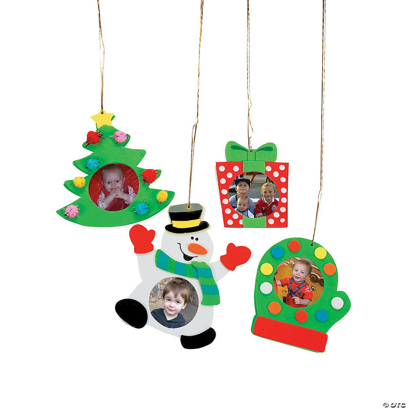 Picture Frame Christmas Ornament Craft Kit - Picture Frame Christmas Ornament Craft Kit - Discontinued