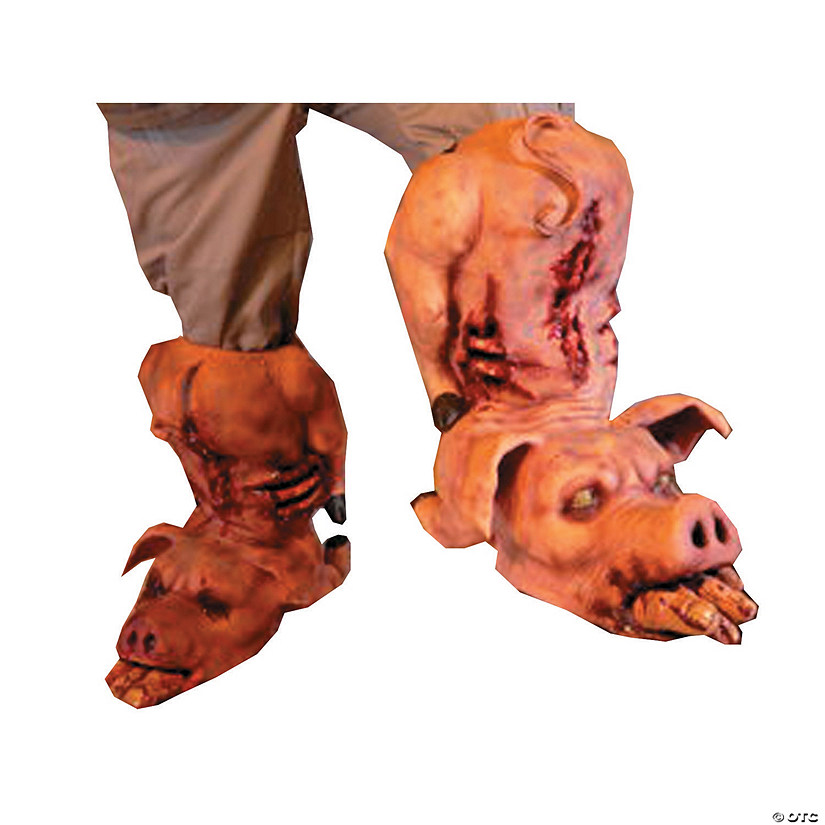 Pig Boots Latex Halloween Costume for Adults