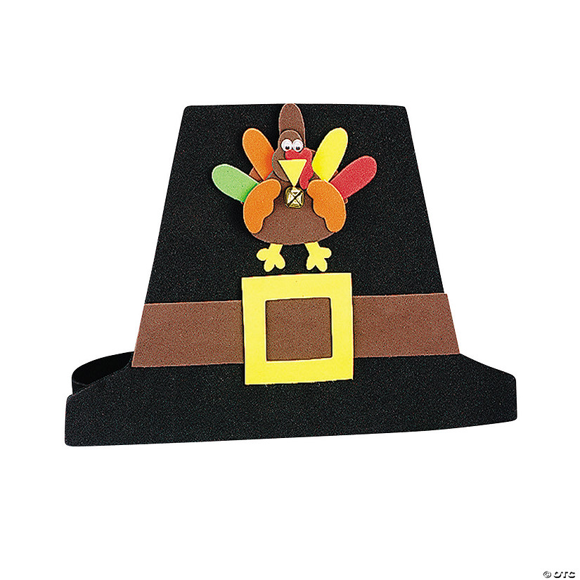 Pilgrim Hat with Turkey Craft Kit Image Thumbnail