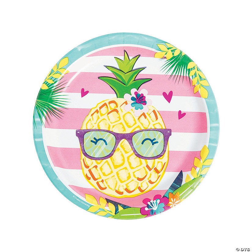 Pineapple 'N' Friends Paper Dinner Plates - 8 Ct. Image Thumbnail