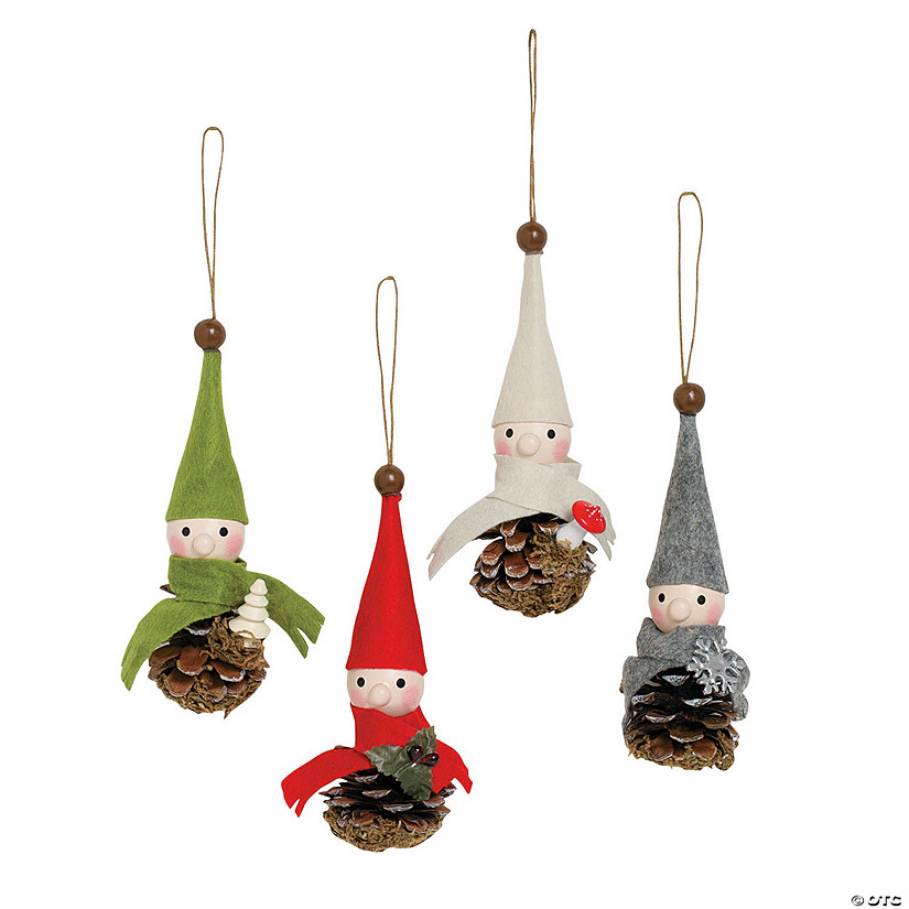 pinecone gnome christmas ornaments