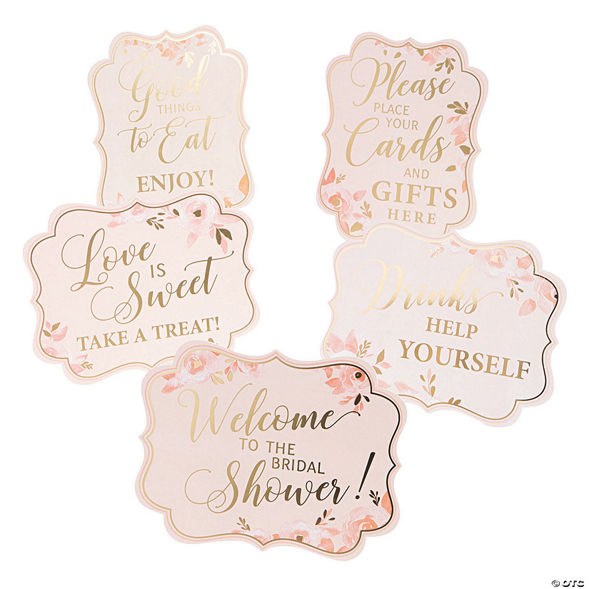 Pink & Gold Bridal Shower Signs Audio Thumbnail