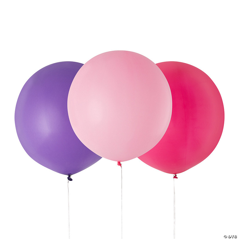 "Pink & Purple 24"" Latex Balloons Audio Thumbnail"