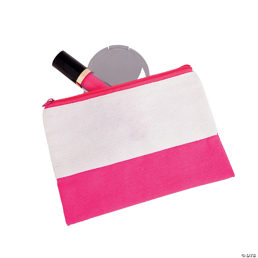 Pink & White Makeup Bag