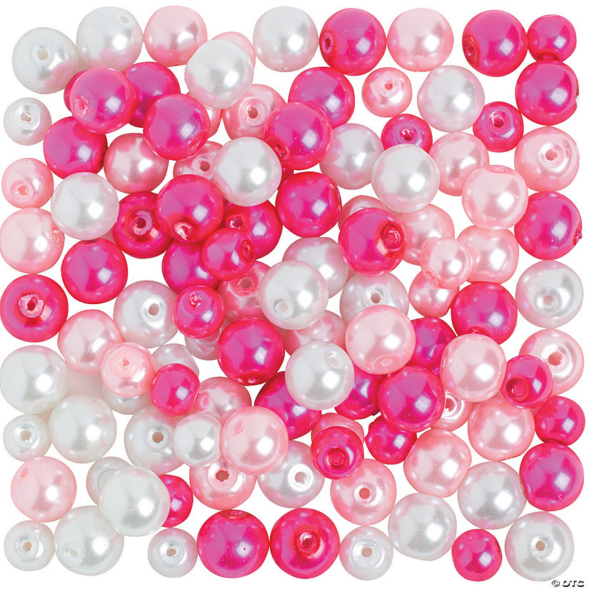 Pink & White Pearl Bead Assortment - 6mm - 8mm Audio Thumbnail