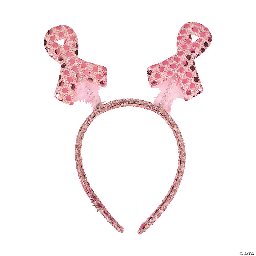 Pink Awareness Ribbon Head Boppers