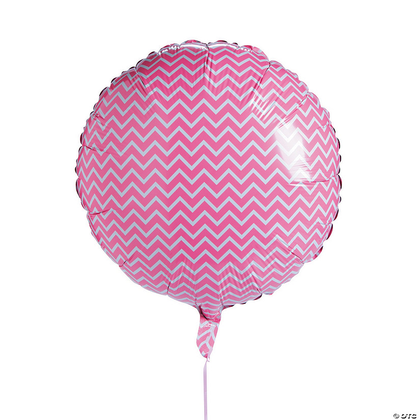 Pink Chevron Mylar Balloon