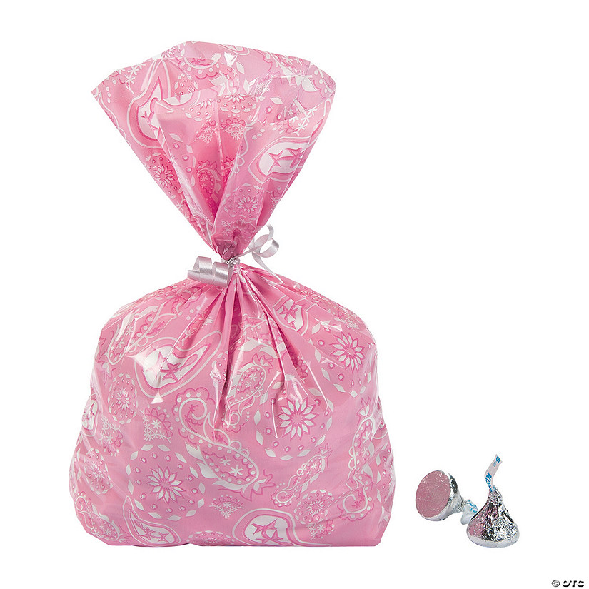 Pink Cowgirl Cellophane Bags
