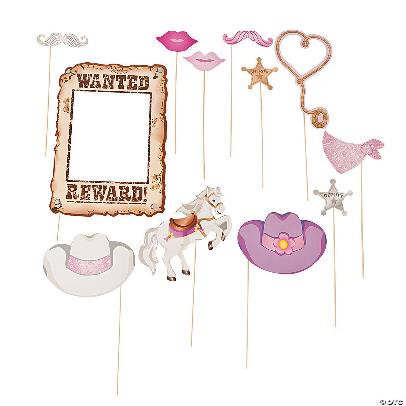 Pink Cowgirl Photo Stick Props
