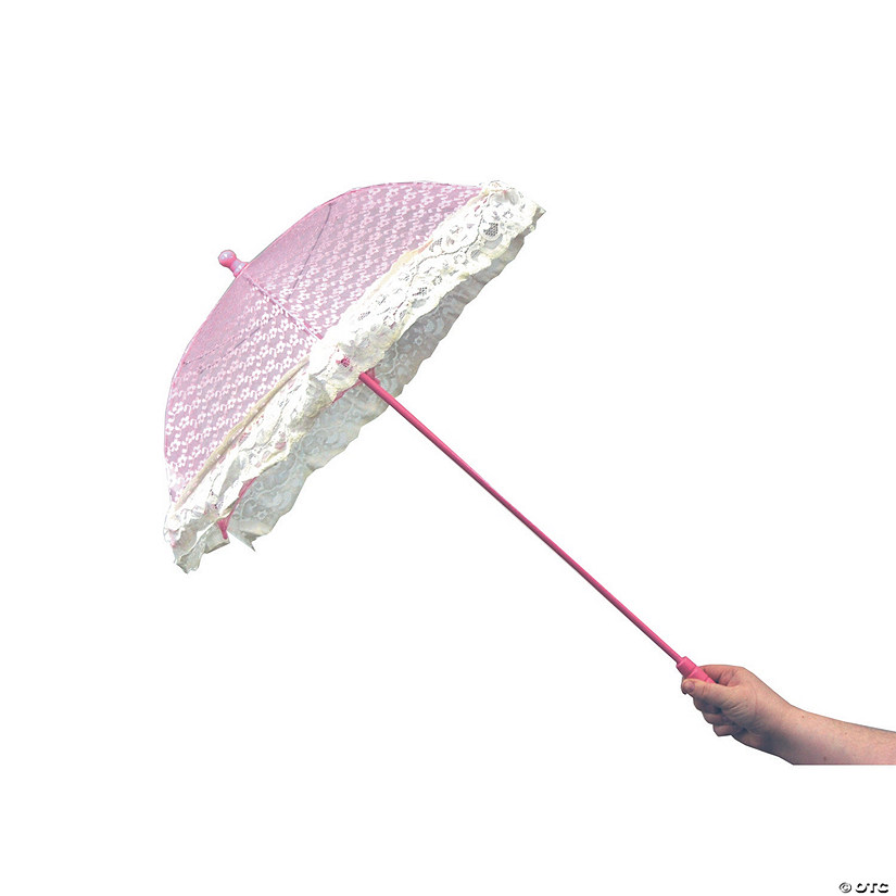 Pink Lace Parasol with Ruffles Audio Thumbnail