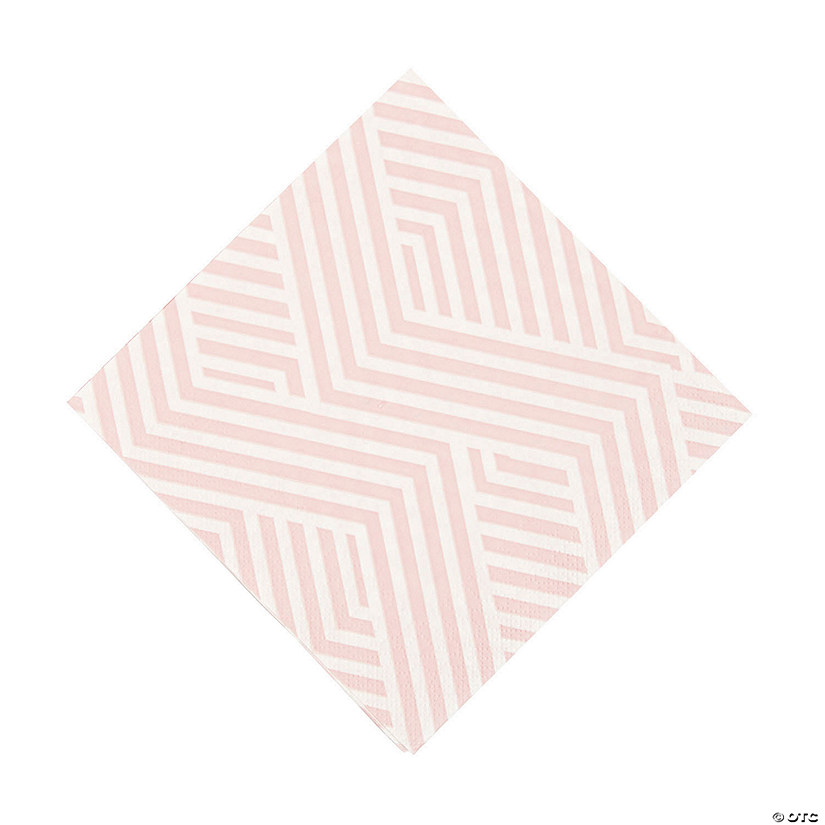 Pink Overlapping Chevrons Luncheon Napkins Image Thumbnail