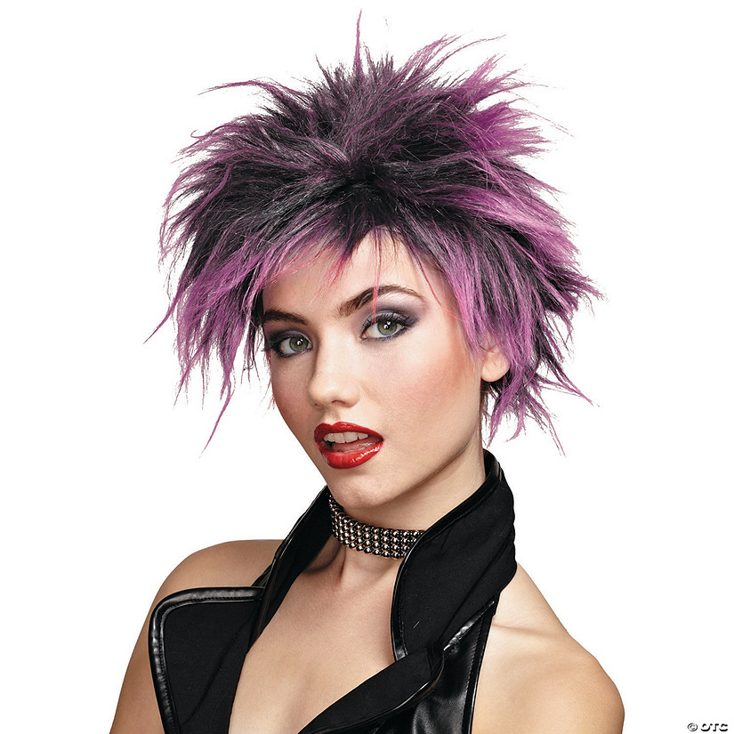 Pink Punker Chick Wig Image Thumbnail