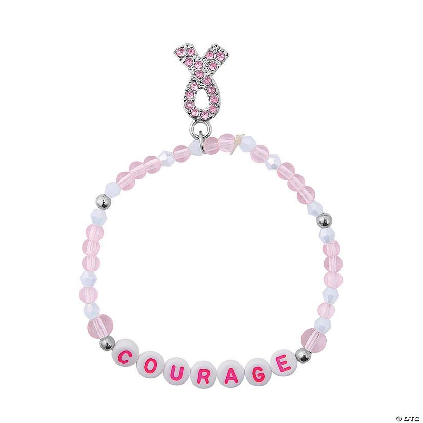 Pink Ribbon Bracelet Craft Kit