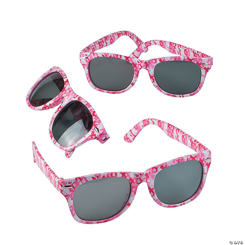 Pink Ribbon Camouflage Sunglasses - 12 Pc.