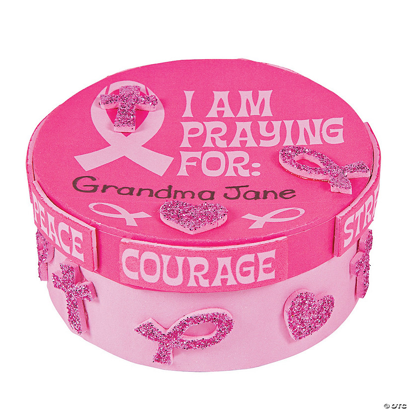 Pink Ribbon Prayer Box Craft Kit Audio Thumbnail