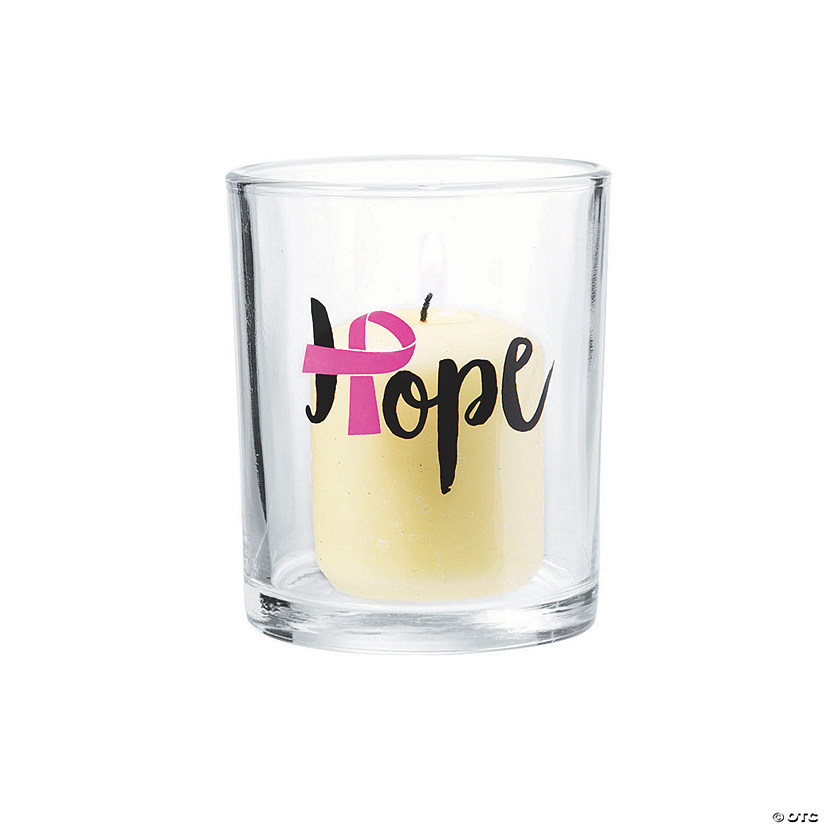 Pink Ribbon Votive Candle Holders Audio Thumbnail