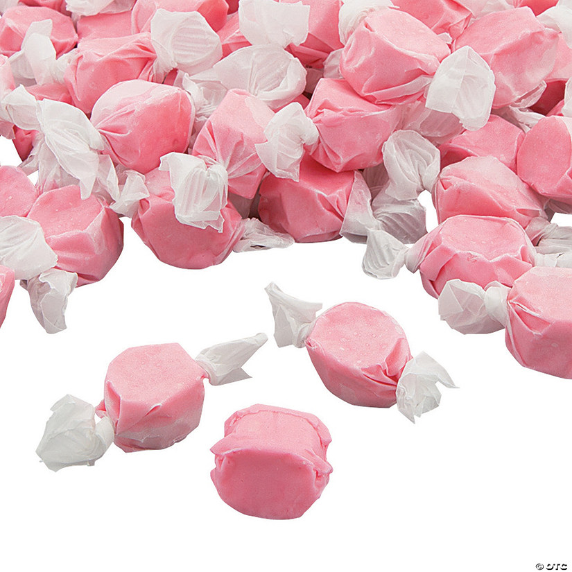 Pink Salt Water Taffy Candy