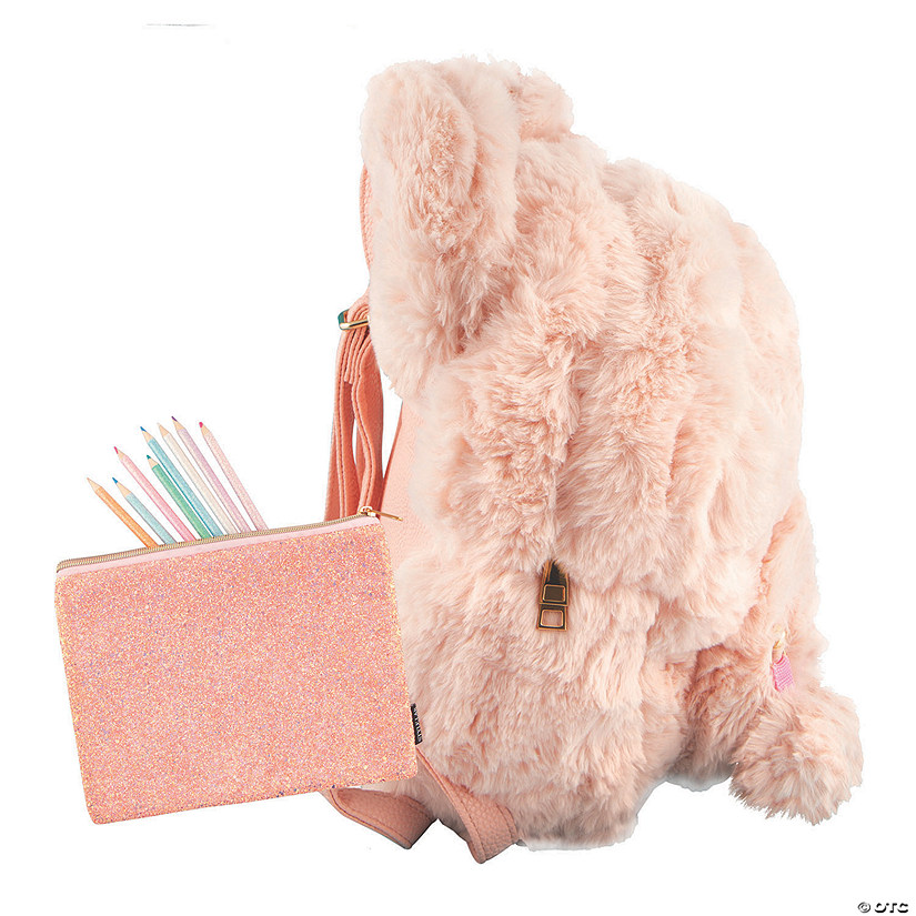 Pink Teddy Bear Mini Backpack with BONUS Pouch Image Thumbnail