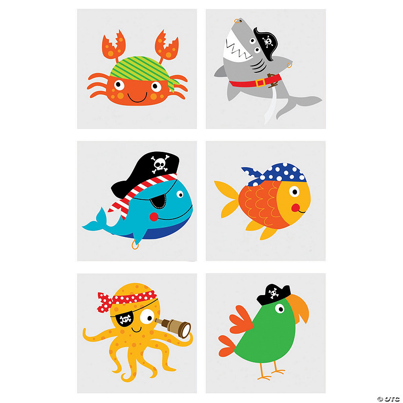 Pirate Animals Temporary Tattoos Audio Thumbnail