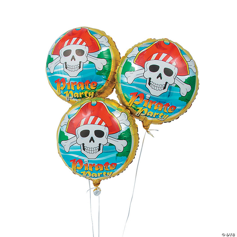 "Pirate Birthday 18"" Mylar Balloons Audio Thumbnail"