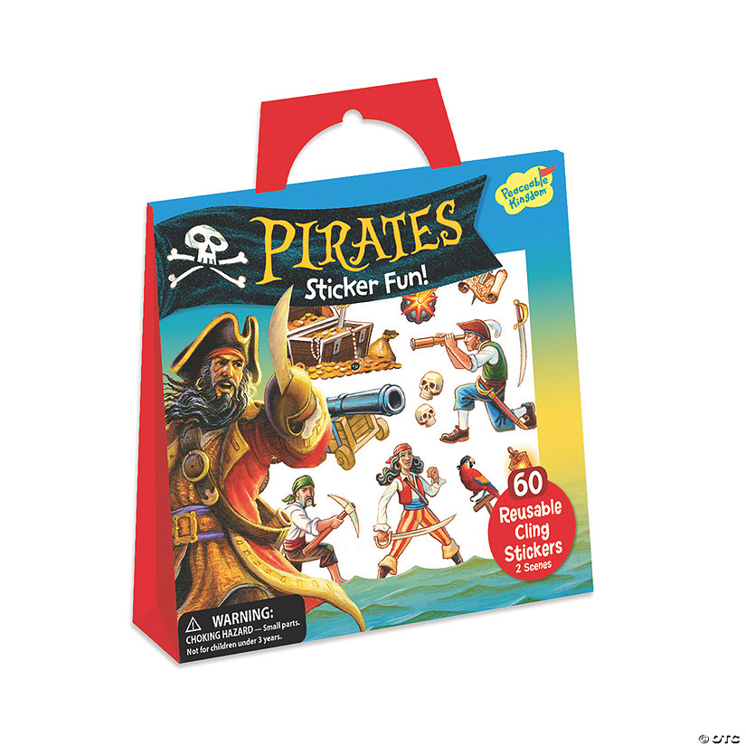 Pirates Resuable Sticker Tote Image Thumbnail