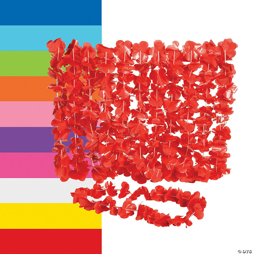 Plastic Flower Leis - 12 Pc. Image Thumbnail