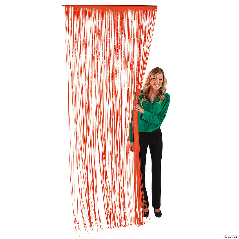 Plastic Orange Fringe Door Curtain Audio Thumbnail