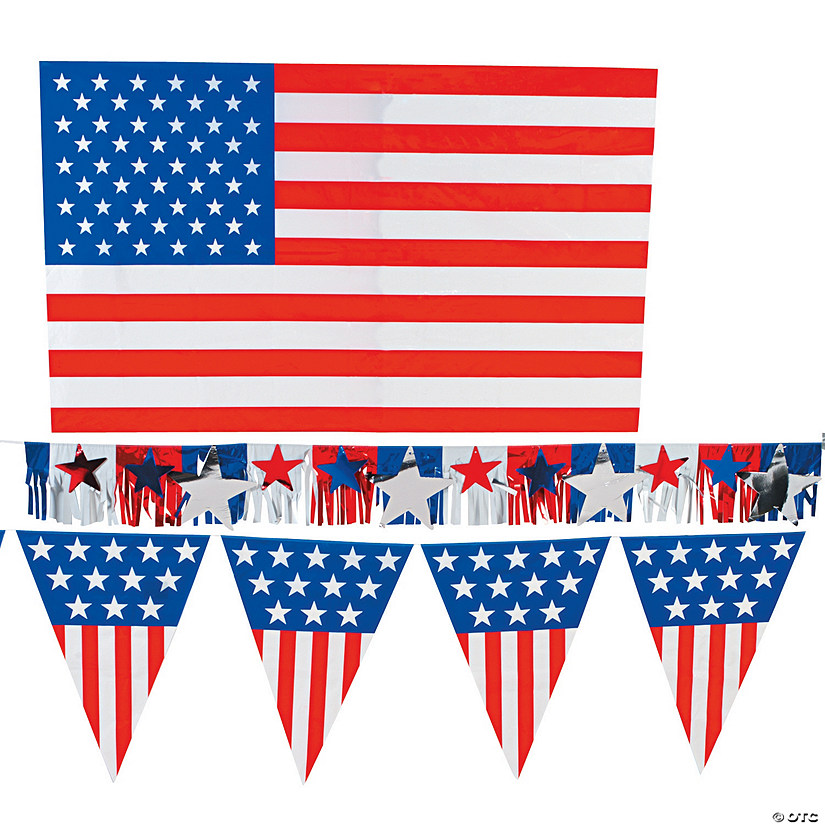 Plastic Patriotic Outdoor Decorating Kit Image Thumbnail