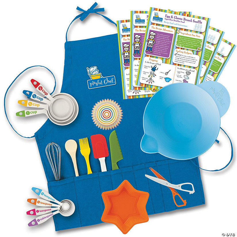 Playful Chef Deluxe Cooking Kit with Blue Apron (Ages 6 and up) Image Thumbnail