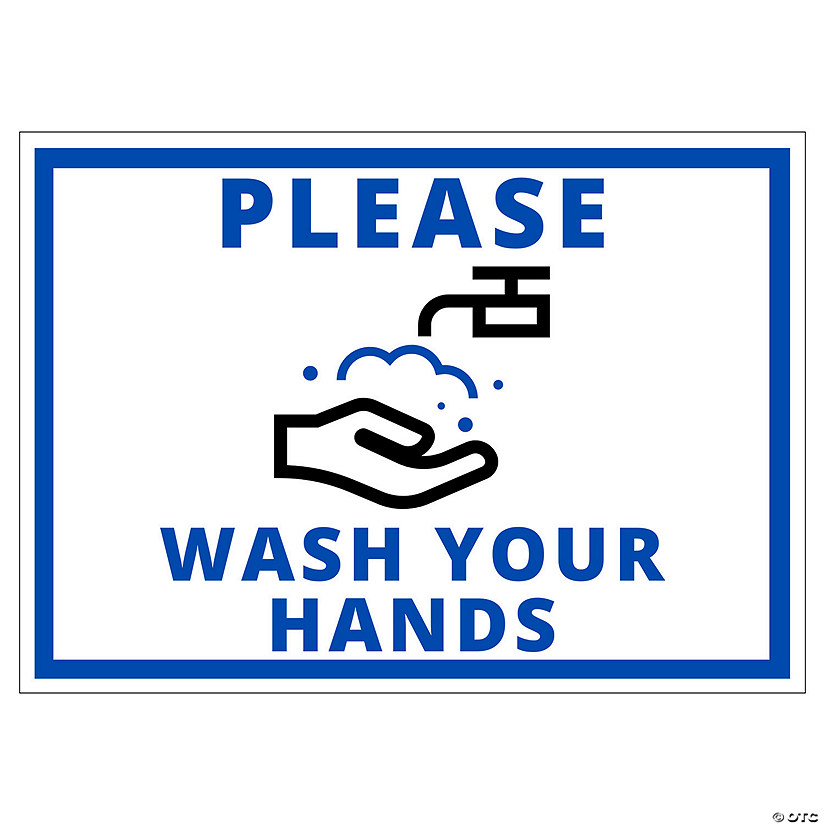 Please Wash Your Hands Peel & Stick Decals Image Thumbnail