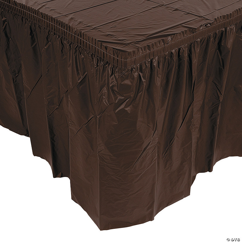 Pleated Chocolate Brown Table Skirts Audio Thumbnail