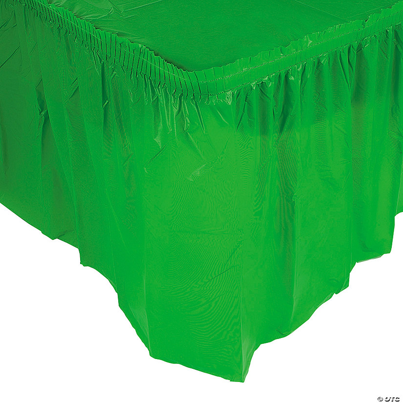 Pleated Green Table Skirt Image Thumbnail