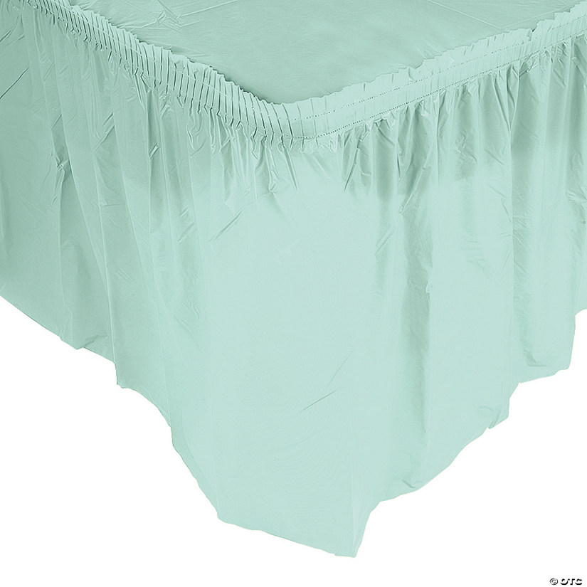 Pleated Mint Green Table Skirt Audio Thumbnail