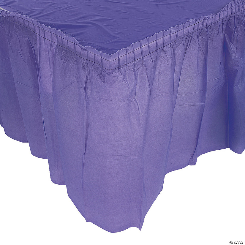 Pleated Purple Table Skirt Image Thumbnail