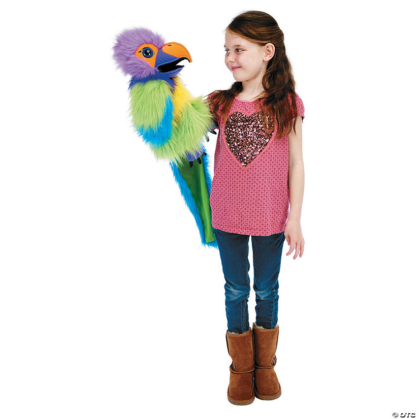 Plum Parakeet Large Bird Plush Puppet Audio Thumbnail