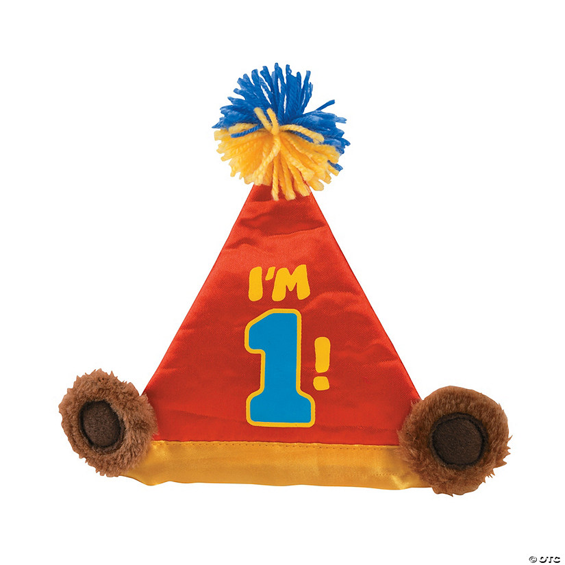 Plush 1st Birthday Bear Hat