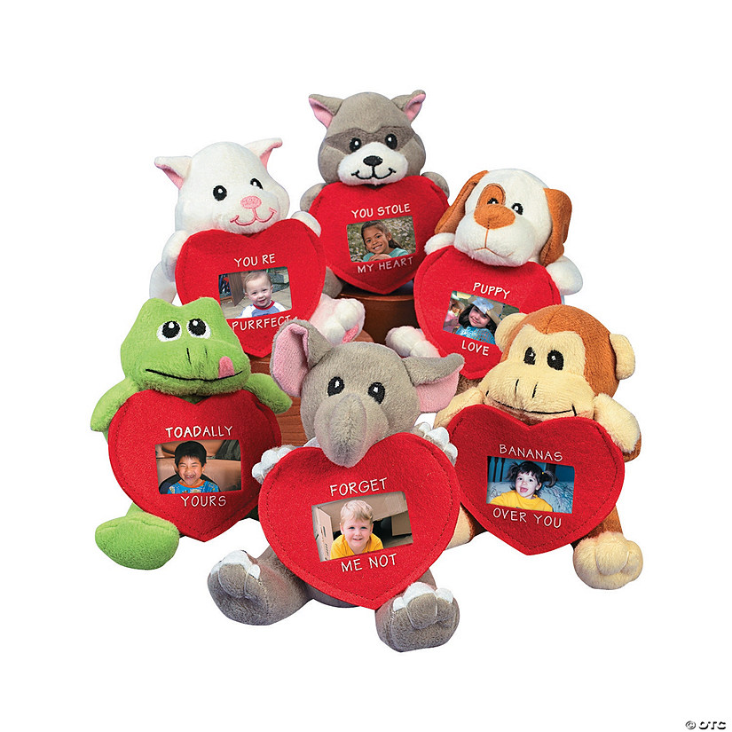 Plush Animals With Valentine Picture Frame Discontinued