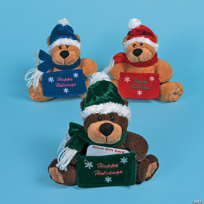 Plush Christmas Bears With Gift Card Holders Discontinued